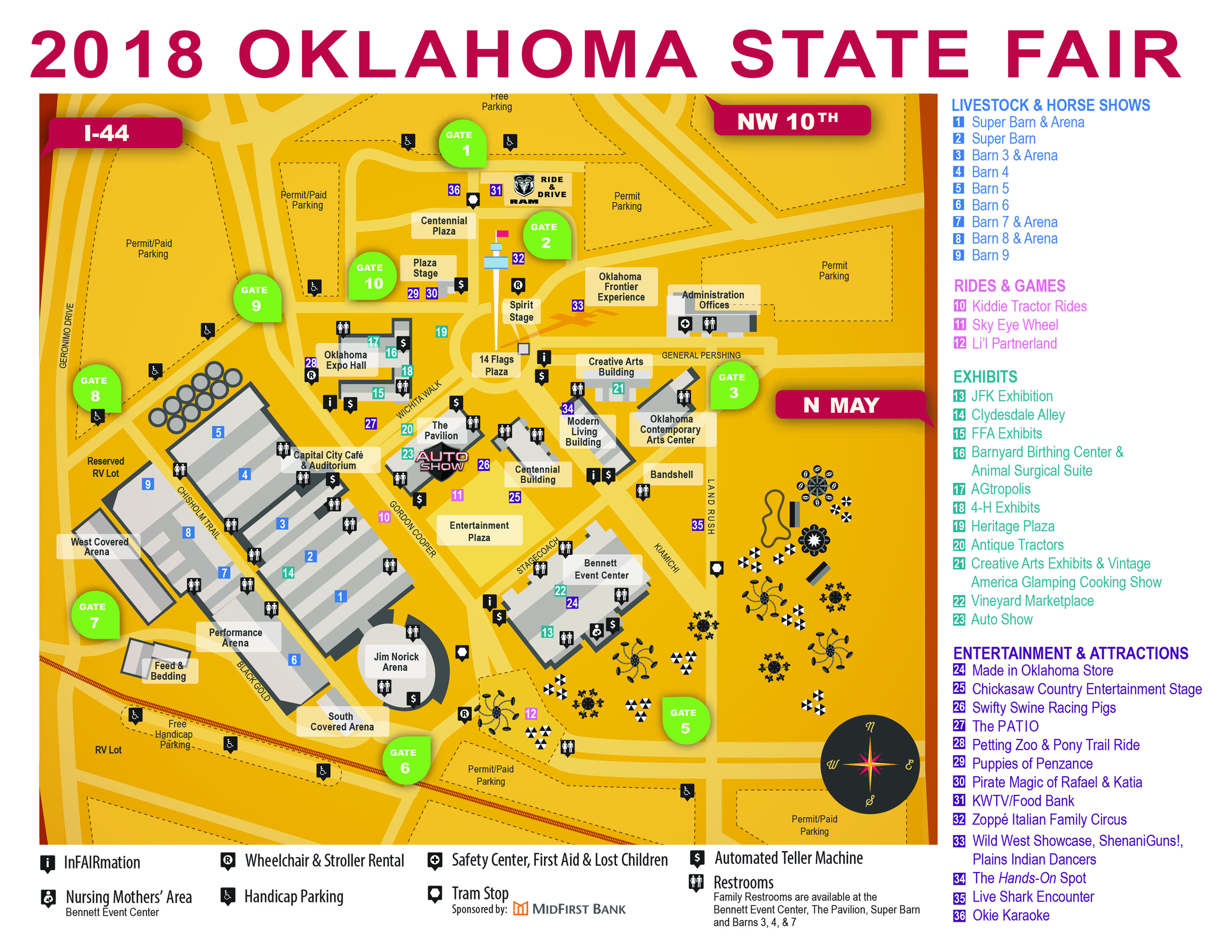 State Map Oklahoma.Downloadable Map Ok State Fair